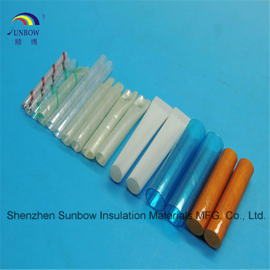 China Sunbow Polyester Film Twisted Pet Heat Shrink Tubing Clear