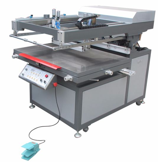 Tmp-6090 Economic Plane Silk Screen Printer pictures & photos