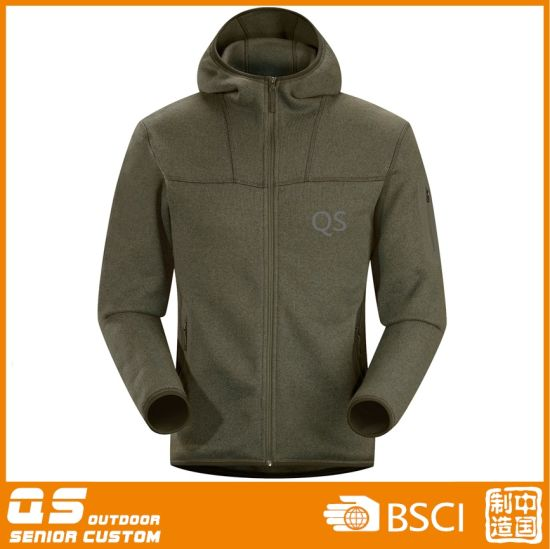 Men′s Flatfleece Windproof and Waterproof Warm Jacket pictures & photos