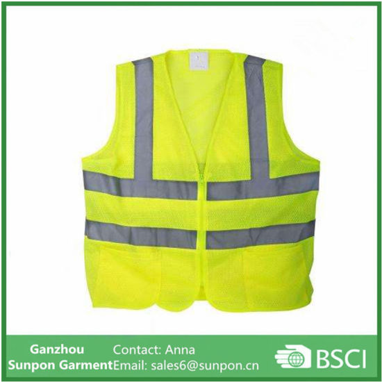 Yellow Mesh High Visibility Reflective Class 2 Safety Vest