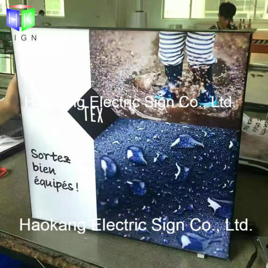 Aluminum LED Slim Fabric Light Box Frame Decoration Sign pictures & photos