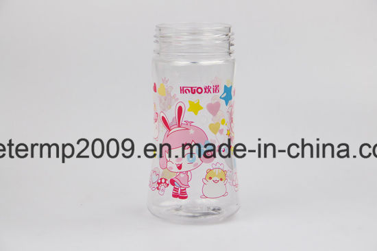 260ml Customized Plastic Kids Water Bottles with Strew BPA Free pictures & photos