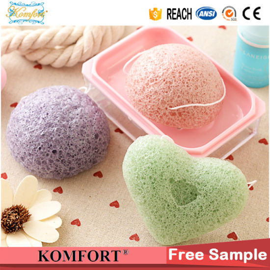 SPA Bath Facial Cleaning Puff Charcoal Konjac Sponge pictures & photos
