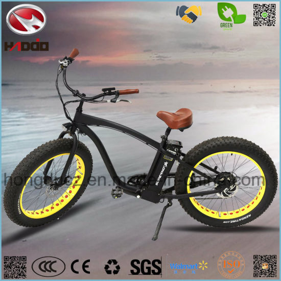 Powerful Motor Bike Fat Tire Scooter Electric Beach Bicycle pictures & photos