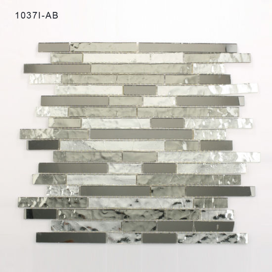 Hand Cut Shiny Building Materials Sale Crystal Tile Glass Mosaic pictures & photos