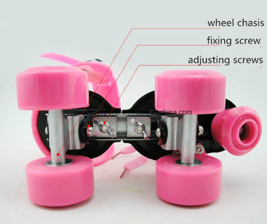Adjustable 4 Wheels Roller Skate Shoes pictures & photos