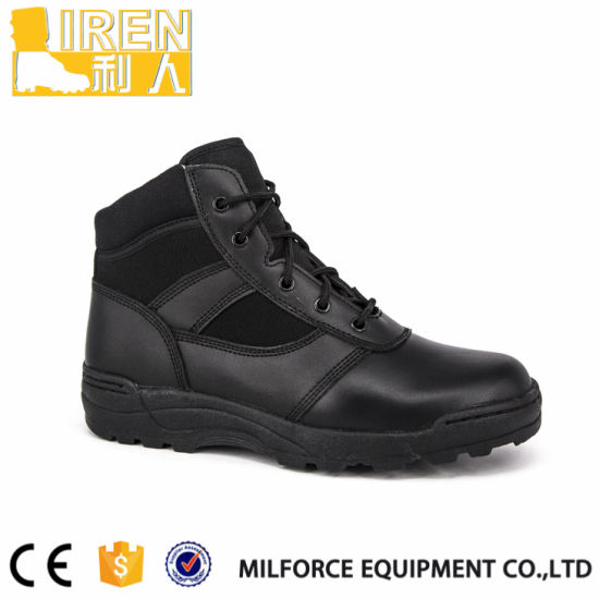 New Design Soft Leather & Cordura Cheap Police Boots pictures & photos