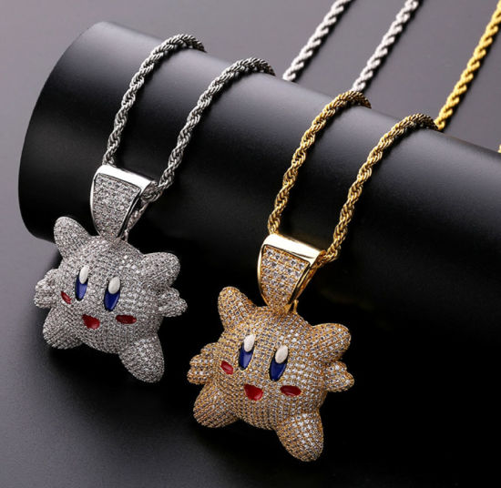 Men′s Hip Hop Gold Kirby Pendant Necklace Jewelry, Factory Direct Wholesale pictures & photos