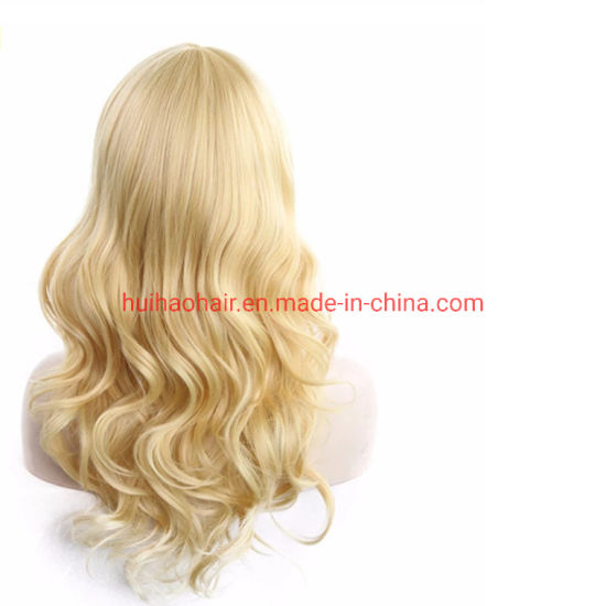 Hot Selling 100% Human Hair Blond Straight/Wavy/Curly Full Lace Wig Lace Front Wig pictures & photos