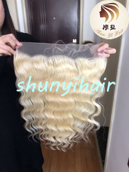 High Quality 613 13*6 Frontal 100% Virgin Human Hair Brazilian Pre Plucked Swiss Lace 613 Body Wave Hair Lace Frontal