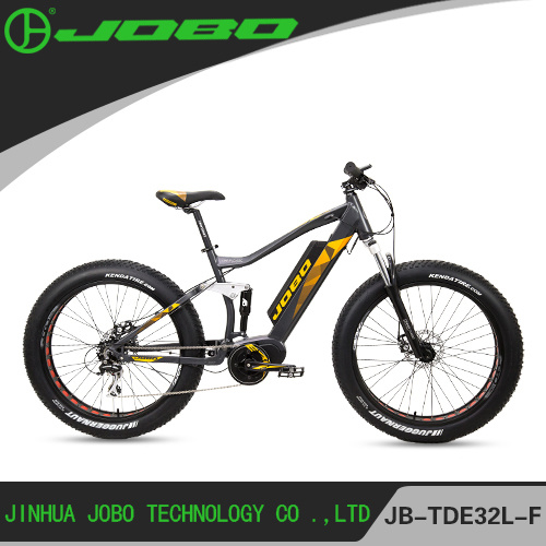 2017 New Design Electric Snow Fat Bike with Suspesion 1000W Motor