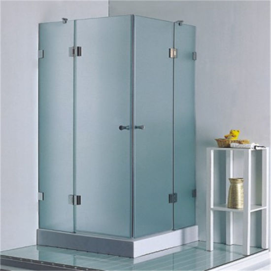 China Bathroom 8mm Glass Round Chromed Frame Hinge Shower Cabin for ...