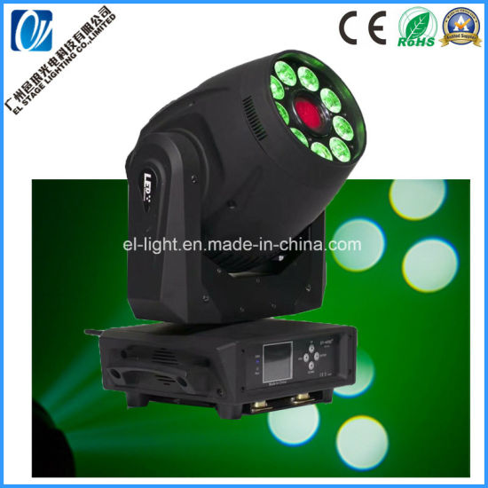 2in1 LED Spot Wash Moving Head Light with 1PC 120W + 9PCS 12wrgbw a UV 6in1 LED Chip