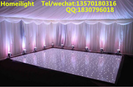 2017 New 2*2FT White & Black Acrylic Star LED Dance Floor for Wedding pictures & photos