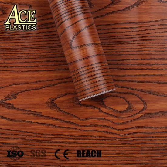 china hotpress wood grain glossy matte pvc film for computer desks