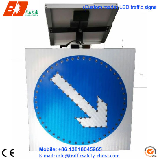 IP65 Waterproof Road Safety Solar Traffic Pedestrian Sign pictures & photos