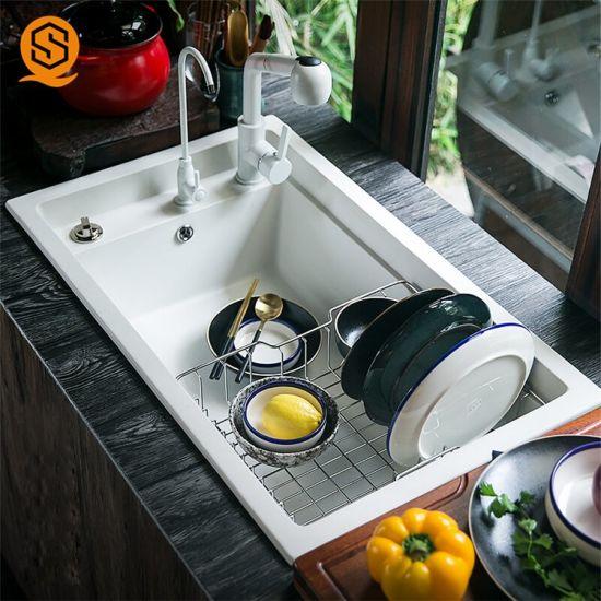 China Artificial Quartzite Stone Kitchen Sinks Granite