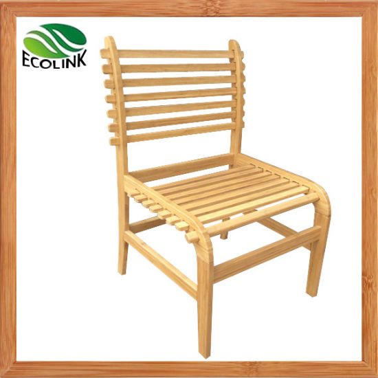 Wooden Bamboo Dining Furniture Bamboo Elastic Chair for Home Hotel Restaurant