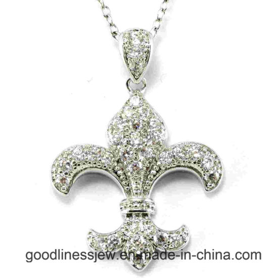 New Design and 2015 New Fashion 925 Sterling Silver CZ Pendant Wholesale P5001 pictures & photos