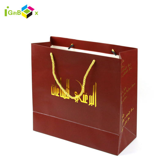 Delicate Paper Gift Bags with Handles for Shopping Packaging