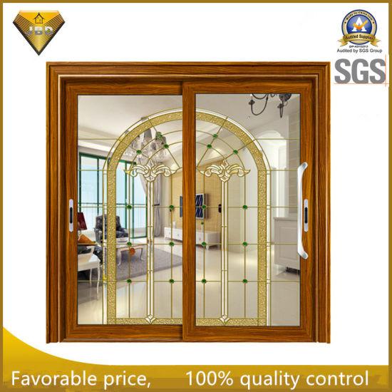 Good Heatsound Insulation Aluminum Sliding Door With Designed Glass