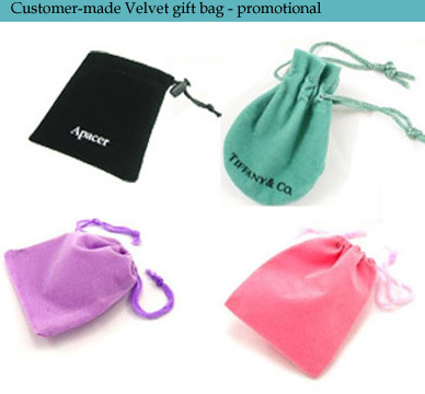 High Quality Velvet Gift Pouch with Logo Embroidery pictures & photos