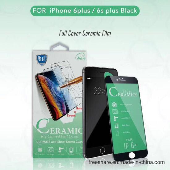 100% authentic 25dfb 91d20 Full Cover Ceramic Film Black Tempered Glass Screen Protector for iPhone 6  Plus/ 6s Plus