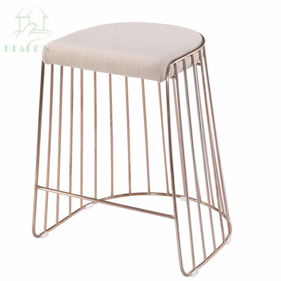 Excellent China Metal Powder Coating Ottoman Bar Stool With Seat Pad Forskolin Free Trial Chair Design Images Forskolin Free Trialorg