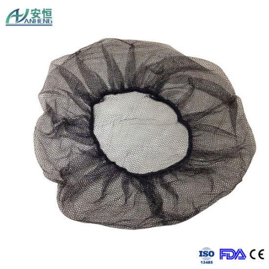 Hot Sale Disposable Nylon Brown Hairnet pictures & photos