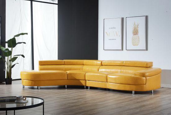 Contemporary Italian Leather Sectional Sofa Italian Style ...