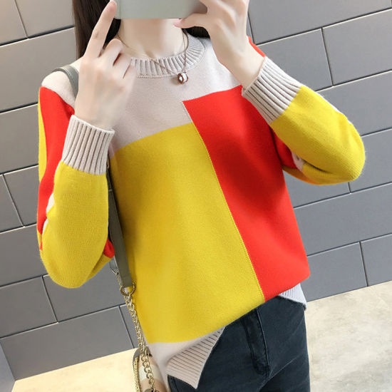 Women's Knit Bottoming Sweater Long Sleeve Thick Pullover