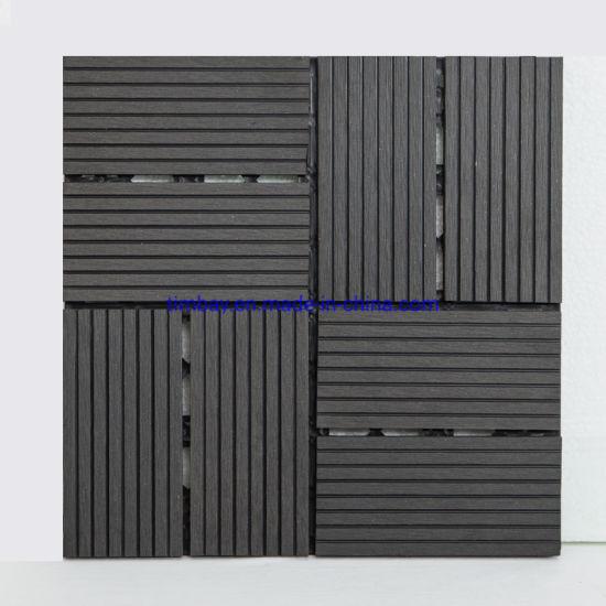 WPC DIY Floor Tile Wooden Decking Tile Exterior Tile Exterior Tile Sheet Exterior Door