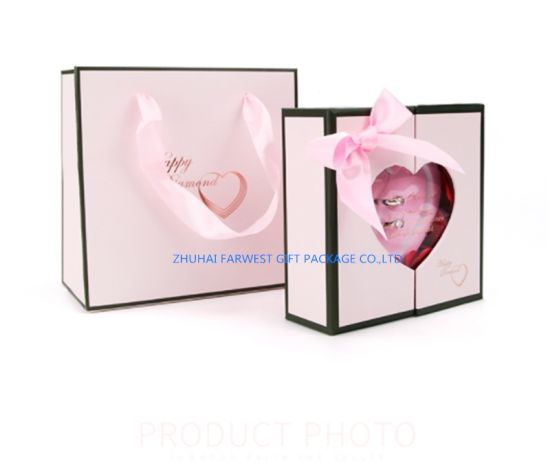 China Coupe Rings Gift Box Wedding Ring Box Good Design With