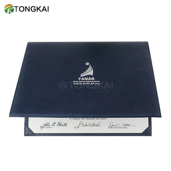 Leather Certificate Cover Stock Holder University Graduation Certificate Holder