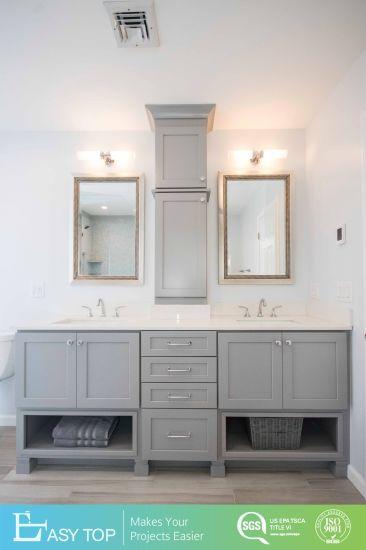 Pvc Grey Shaker Door Bathroom Cabinet