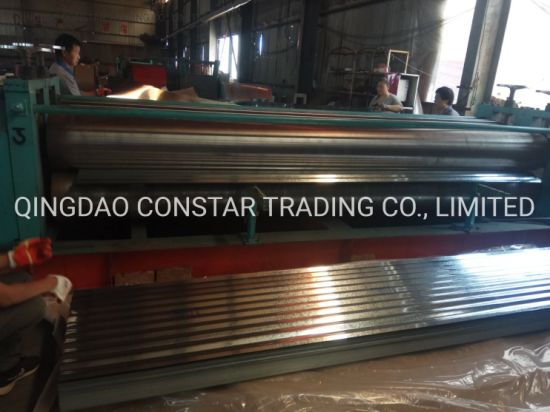 Building Material Coated Corrugated Iron Metal Roof Hot Rolled Steel Roofing Sheet