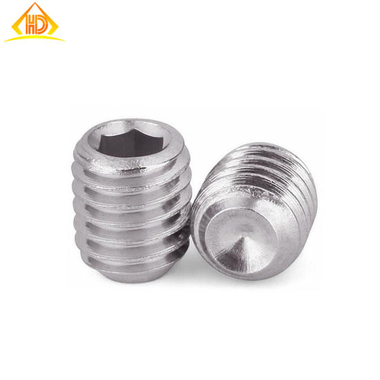 DIN916 Stainless Steel Hex Socket Cup Point Set Screw pictures & photos