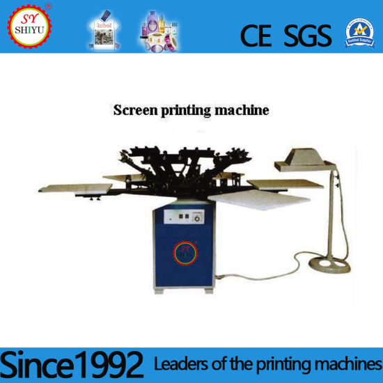 Automatic Rotating Multi-Color T-Shirt Advertisement Bag Logo Toy Leather Label Screen Printing Machine Printer pictures & photos