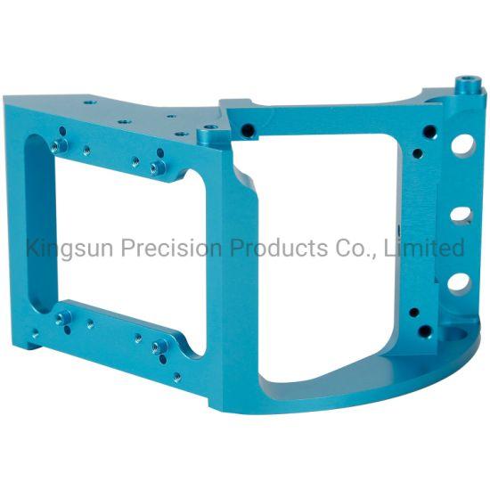 CNC Aluminum Machinery Parts Customized Aluminum Parts Blue Anodized Aluminum Mechanics Parts CNC Machining Factory