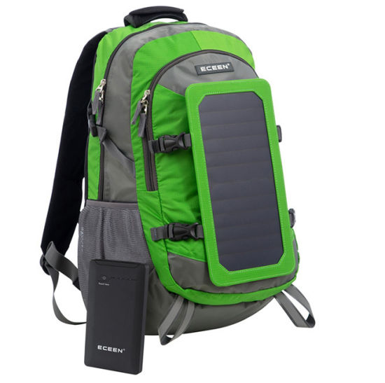 Solar Energy Outdoor Double Shoulder Sports Hiking Camping Leisure Travel Bag Pack Backpack (CY1846) pictures & photos