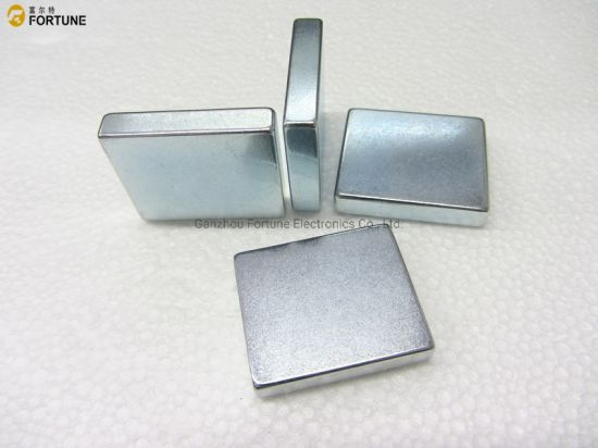 Strong rare earth permanent sintered NdFeB magnet block magnet for industry and motors