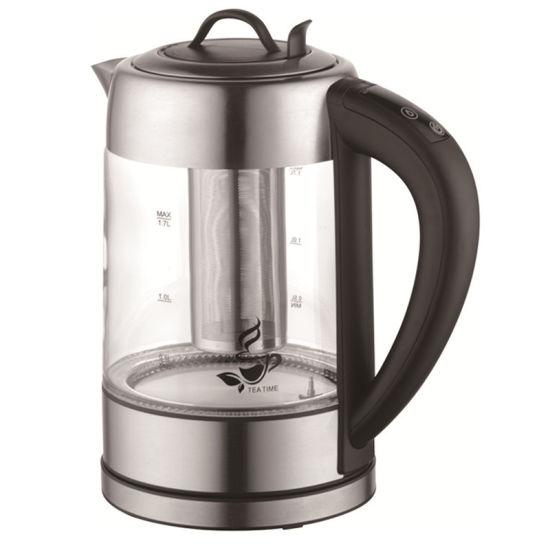 1.7 Liter Keep Warm Glass Kettle with Tea Filter