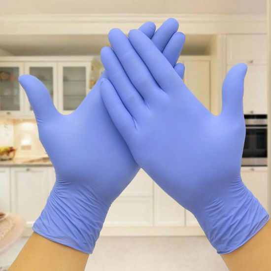 100PCS Powder Free Latex Medical Exam Gloves Disposable Nitrile Latex Gloves pictures & photos