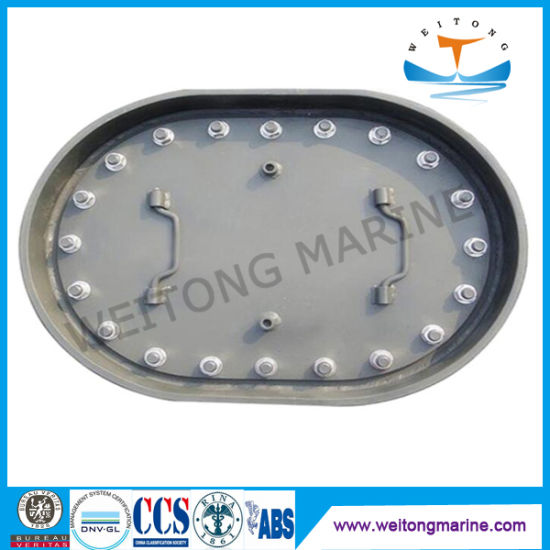 600X400 Galvanized Stainless Steel Aluminum Small Ship Manhole Cover Marine Manhole Covers for Sale
