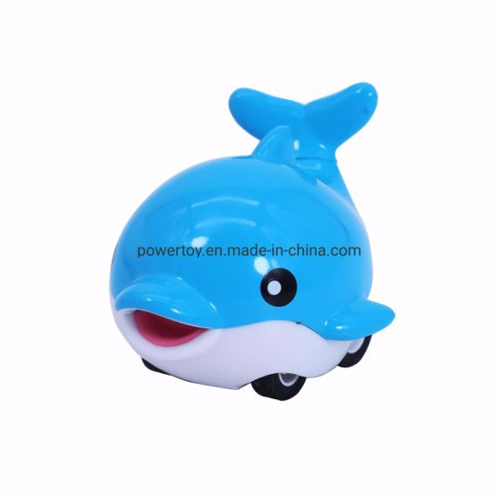 Soft Vinyl Cartoon Insect Car Mini Plastic Rubber Animal Car Toy for Baby