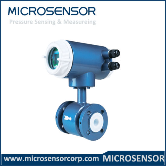 CE Marked DN80 Intelligent 4-20mADC Open Channel Flange Clamp On Electromagnetic Flow Meter MFE600