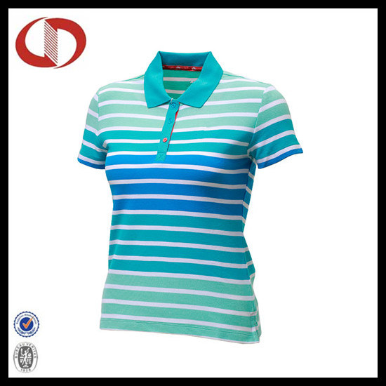 Top design High Quality Stripe Women Polo Shirt From China pictures & photos