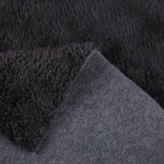 Polyester Pongee Fabric Bonded Polar Fleece/Waterproof Softshell Fabric
