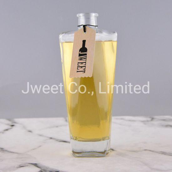 Factory Wholesale Luxury Design Prismatic Shape Liquor Glass Bottle