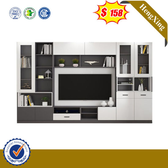 China Modern Wooden Home Living Room Furniture Bookself Tv Stand Unit Wall Tv Cabinets Stand China Tv Cabinets Coffee Table